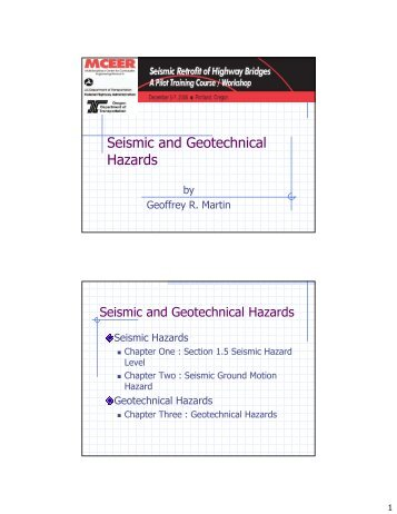 Seismic Design And Retrofit Detailing Fundamentals Mceer