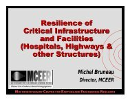 Resilience of Critical Infrastructure and Facilities ... - MCEER