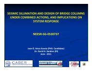 Seismic Simulation and Design of Bridge Columns Under ... - MCEER