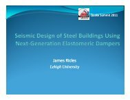 Seismic Design of Steel Buildings Using Next-Generation ... - MCEER