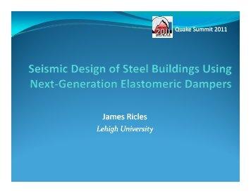 Seismic Design of Steel Buildings Using Next-Generation ... - MCEER