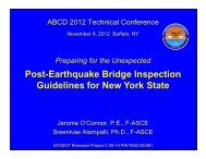 Post-Earthquake Bridge Inspection Guidelines for New ... - MCEER