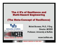 The 4 R's of Resilience and Multi-Hazard Engineering - MCEER ...