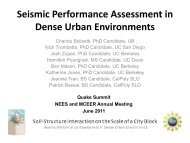 Seismic Performance Assessment in Dense Urban ... - MCEER