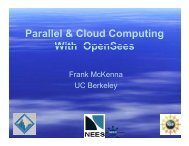 Parallel and Cloud Computing With OpenSees - MCEER