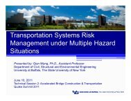 Transportation Systems Risk Management under Multiple Hazard ...