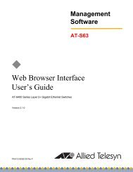 AT-S63 Web Browser Interface User's Guide (3.45 MB) - Allied Telesis