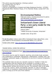 Switzerland's Green Liberal Party: a new party ... - Andreas Ladner