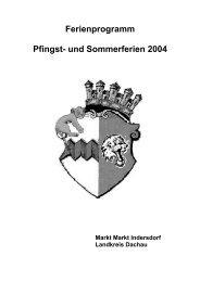 Ferienprogramm Pfingst- und Sommerferien 2004 - Markt Indersdorf