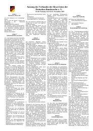Satzung in DIN A4-Format - Verband der Reservisten der Deutschen ...