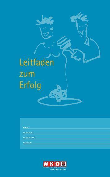 Leitfaden zum Erfolg - Wirtschaftskammer Vorarlberg