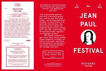 Jean PauL FestiVaL - Residenztheater