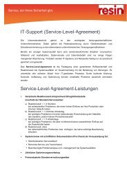 IT-Support (Service-Level-Agreement) Service-Level ... - resin GmbH