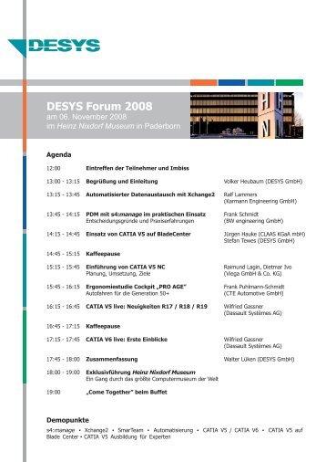 DESYS Forum 2008