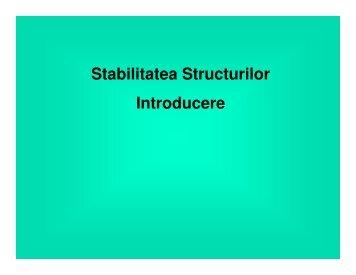 Stabilitatea Structurilor Introducere