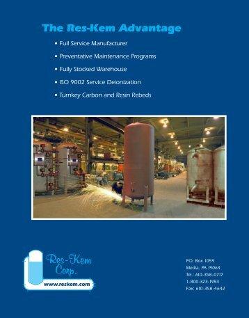 corporate brochure - Res-Kem Corporation