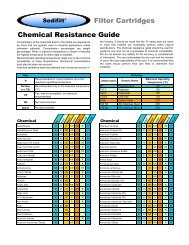 Sedifilt Chemical Resistance Guide - Sedifilt String-Wound Filter ...