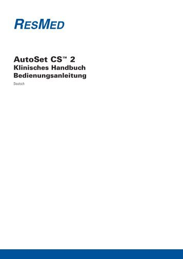 AutoSet CS™ 2 - ResMed