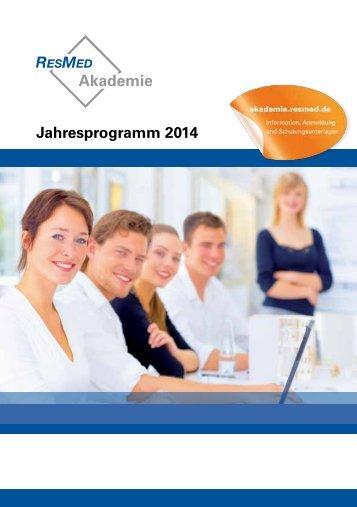 Jahresprogramm 2014 - ResMed