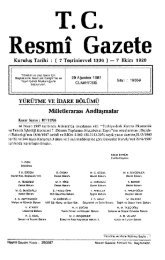 Resmî Gazete T.C. - Resmi Gazete