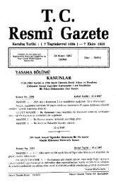 T.C . Resmî Gazete - Resmi Gazete