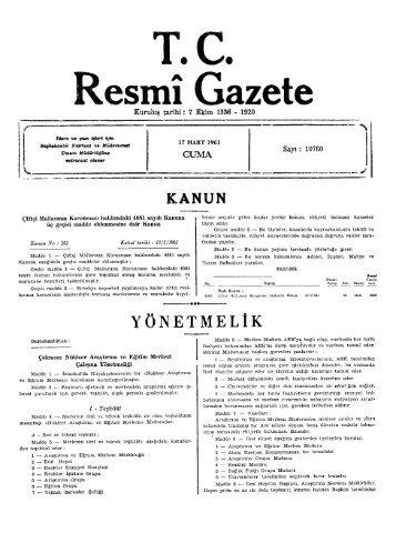 R esmî Gazete - Resmi Gazete