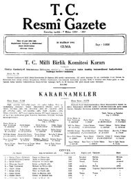 T C Resmî Gazete - Resmi Gazete