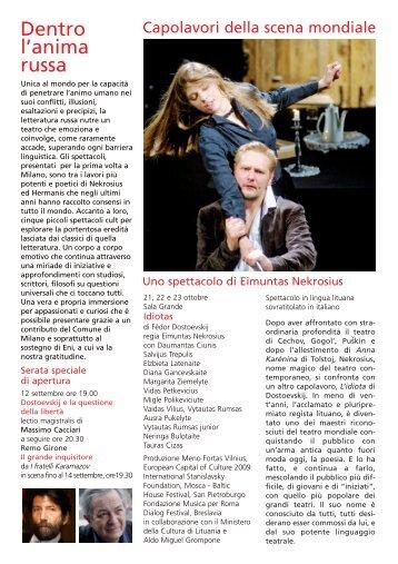 Scarica la brochure - SCUOLA DI MUSICA A MILANO