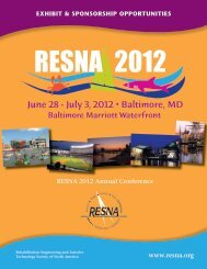 RESNA 2012 Annual Conference www.resna.org Exhibit ...