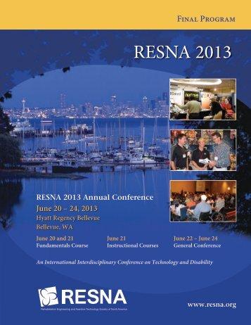 Conference Program (pdf) - Resna