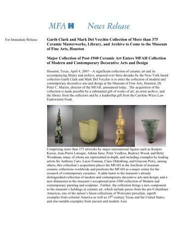 Garth Clark and Mark Del Vecchio Collection of More than 375 ...
