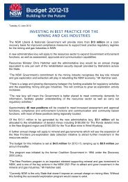 Investing in best practice for the mining and gas industries - NSW ...