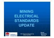 Mining electrical standards update - John Rose