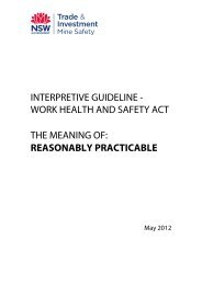 Interpretive guideline - the meaning of reasonably practicable - NSW ...