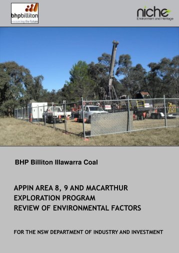 Appin Area 8, 9 and Macarthur Exploration Program - NSW ...