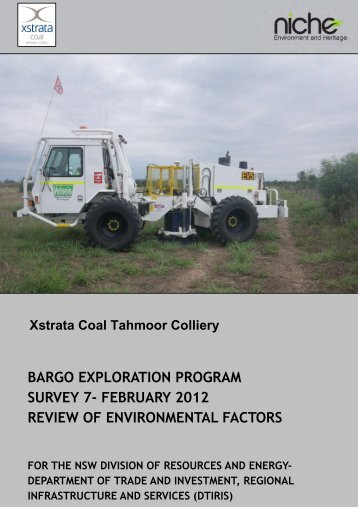 bargo exploration program survey 7 - NSW Department of Primary ...