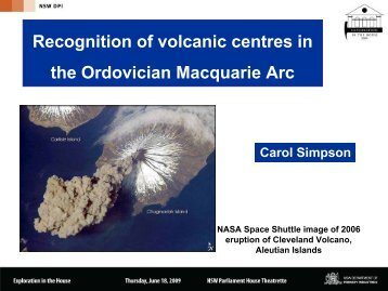 Recognition of volcanic centres in the Macquarie Arc