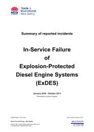 In-Service failure of explosion protected diesel engine systems