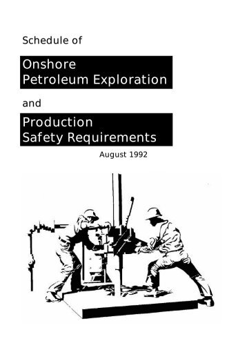 Onshore Petroleum Exploration Production Safety Requirements