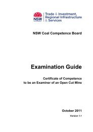 Examination Guide for certificate of competence to be an open cut ...