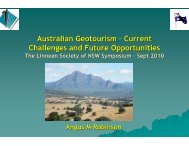 Australian geotourism - NSW Department of Primary Industries ...