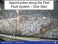 Opportunities along the Peel Fault system