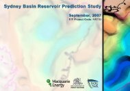 Sydney Basin Reservoir Prediction Study - NSW Department of ...