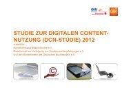 STUDIE ZUR DIGITALEN CONTENT- NUTZUNG (DCN ... - MIZ