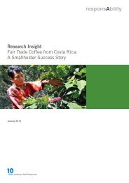 Research Insight Fair Trade Coffee from Costa Rica ... - responsAbility