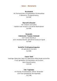Saison - Wochenkarte Ruccolasalat mit ... - Ess Null Vier