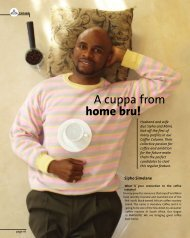 home bru! A cuppa from - Restaurant Association of South Africa