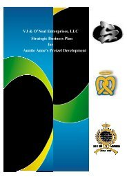 VJ & O'Neal Enterprises, LLC - Restaurant Association of South Africa