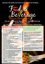 Food and Beverage Conference - Restaurant Association of South ...