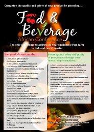 food & Beverage African Conference - Restaurant Association of ...